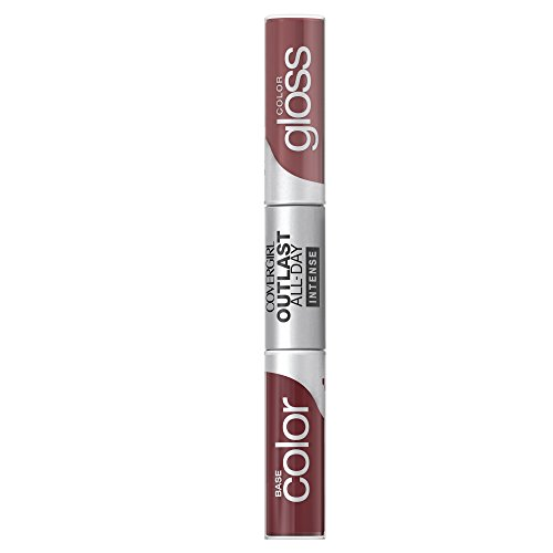 CoverGirl Outlast All-Day Color & Lip Gloss, Rich Caramel, 0.2 (0.2 Ounce Pop Gloss)