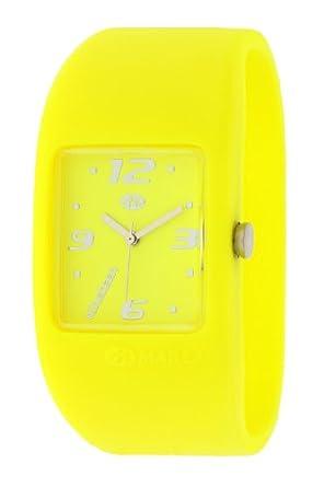 Marea Nineteen B35502/25 - Reloj de mujer de cuarzo, correa de silicona color amarillo: Amazon.es: Relojes