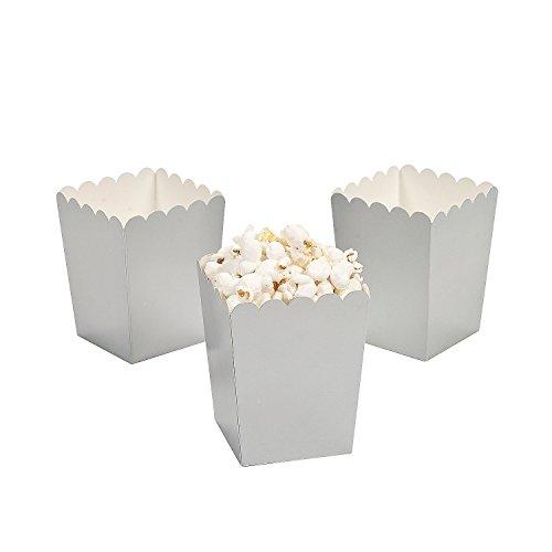 silver mini popcorn boxes - 2