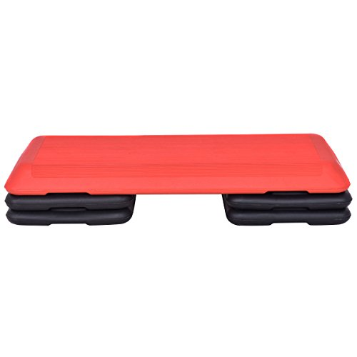 Red Trapezoid 43'' Aerobic Stepper Adjustable Height for Work Out by FDInspiration (Image #1)