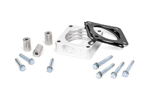 Rough Country – 1068 – Throttle Body Spacer for Jeep: 84-01 Cherokee XJ 4WD/2WD, 86-92 Comanche MJ 4WD/2WD, 99-04 Grand Cherokee WJ 4WD/2WD, 93-98 Grand Cherokee ZJ 4WD/2WD, 97-06 Wrangler TJ 4WD, …