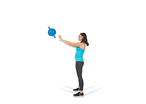 Kamagon Exercise Ball, Blue, 9-Inch with workout DVD by Kamagon (Image #2)