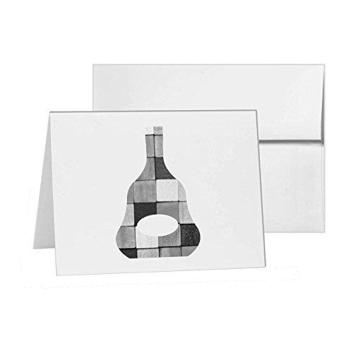 Cognac Bottle Cognak Xo Hennessy, Blank Card Invitation Pack, 15 cards at 4x6, Blank with White Envelopes Style 8719 (Hennessy Bottle Cover)
