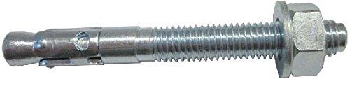 allfa 7250012180 Stahlanker mit ETAG 001 Zulassung, verzinkt, M12 x 180 mm, 25 Stü ck Kalm Befestigungssysteme GmbH
