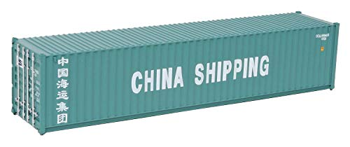 Walthers SceneMaster 9498151  HO Scale Model of China Shipping Green White 40#039 Corrugated Container