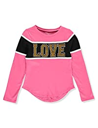Dream Star Girls' Queen Love Flip Sequin L/S Top