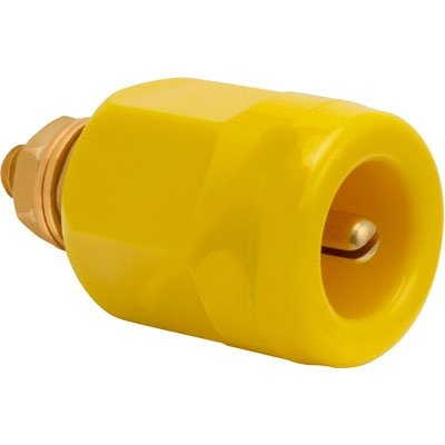 Superior Electric RP25GY , Connector, Electrical; Pin Receptacle; 0.16 in.; 0.81 in.; 0.19 in.; Yellow;