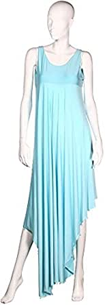 Sana'a Kayum Women's Draped Style Evening Dress Blue [skca-100681]