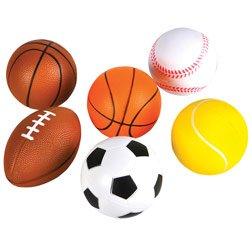 Sports Ball Foam Asst 3-1/2 Inch by Generic