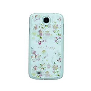 Pink Flower Pattern Hard Case for Samsung Galaxy S4 I9500