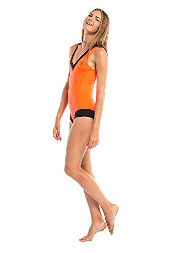 GLIDESOUL de la mujer 105op3070–�?6L–Bañador, color naranja/negro, grande