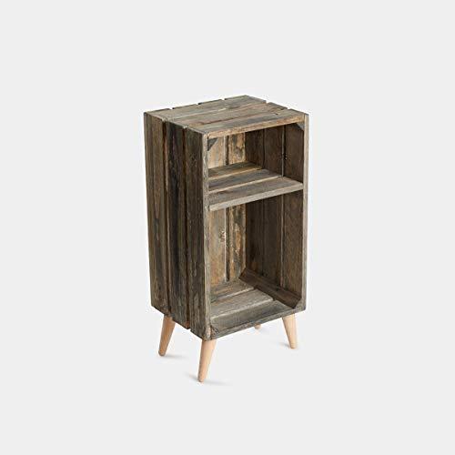 Rebajas oferta Mesita de noche de caja de frutas en madera ...