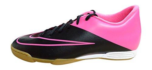 Nike Herren Mercurial Vortex II IC Fußballschuhe Schwarz / Pink (Schwarz / Schwarz-Rosa-HYPR HYPR KNP)