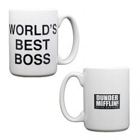the office coffee mug. The Office Dunder Mifflin World\u0027s Best Boss Coffee Mug By NBC M