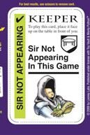 Python Card - Monty Python Fluxx - Sir Not-Appearing Promo Card
