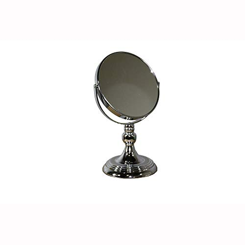 Benjara, Silver Metal Magnifying Makeup Mirror with ThreeX -