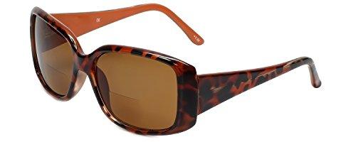 Corinne McCormack Designer Bi-Focal Reading Sunglasses Jennifer in Tortoise-Orange +1.50 by Corinne McCormack