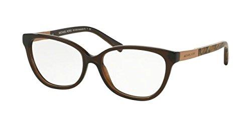 Michael Kors ADELAIDE III MK4029 Eyeglass Frames 3116-51 - Dk Brown Tigers - Frames Tiger Glasses