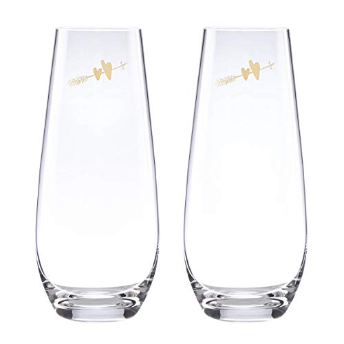 - kate spade New York 883387 Two Hearts champagne glass