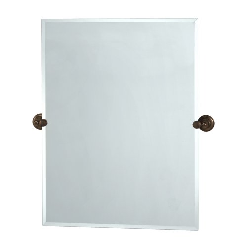 - Gatco 4349S Tiara Rectangular Wall Mirror, Bronze