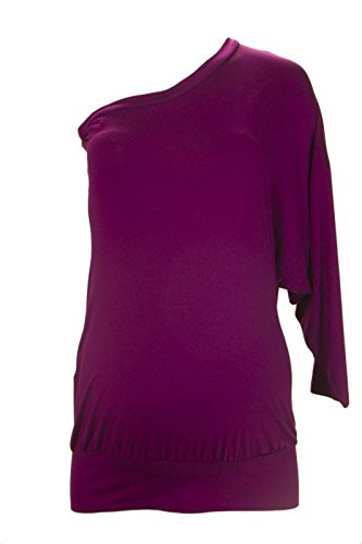 Olian Maternity Women's Off The Shoulder Long Sleeve Blouse Small Salmon ()