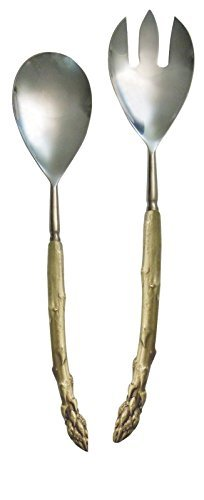 ''Asparagus Serving Utensils'' (Set of 2) by Michael Michaud for Silver Seasons Table Art