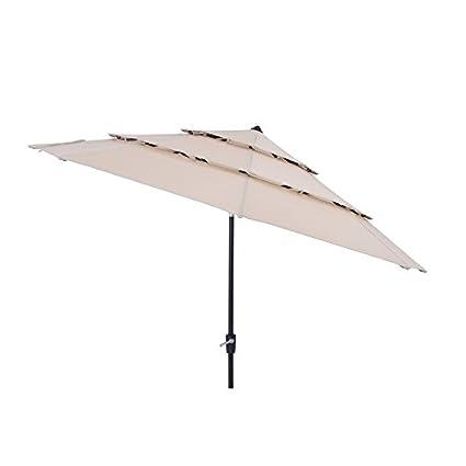 Amazon.com : SimplyShade 11-ft Patio Umbrella for Table Yard Patio Color  Solid Wheat UV Protected Easy Open : Garden & Outdoor - Amazon.com : SimplyShade 11-ft Patio Umbrella For Table Yard Patio