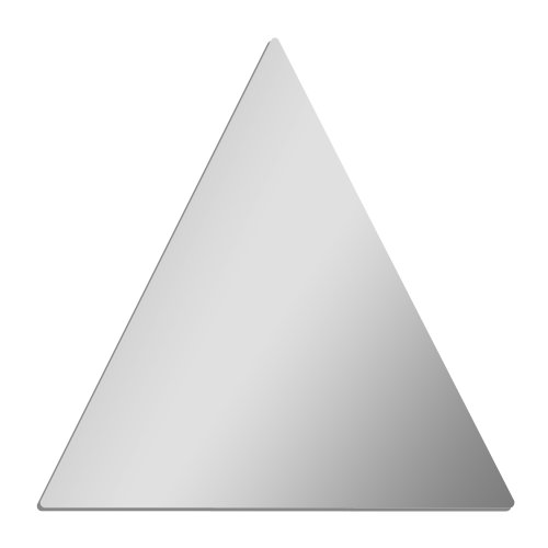 Acrylic Triangle Shape - GLOSSY GALLERY Triangle Shatterproof Acrylic Safety Mirror - 12 inch