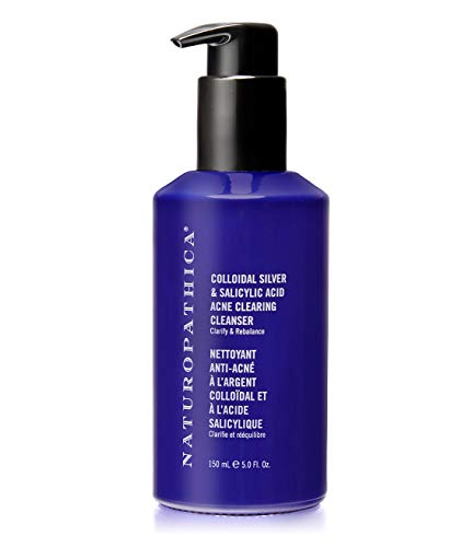 Naturopathica Colloidal Silver & Salicylic Acid Acne Clearing Cleanser   Face Wash for breakouts