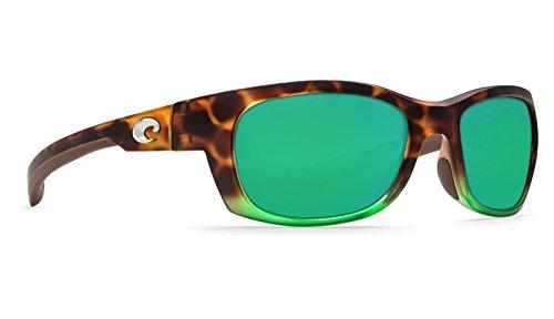 Costa Del Mar Trevally 580G Trevally, Matte Tortuga Fade Green Mirror, Green Mirror