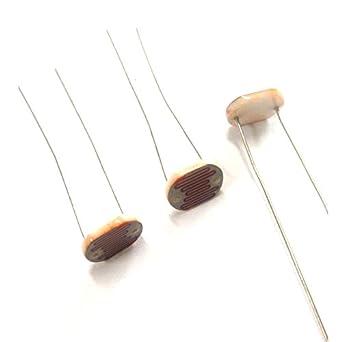 Resistencia fotoconductora de la luz Cell Dependiente 80-150 K LDR11 mm cerámica Pacakge (