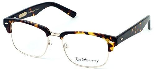 Ernest Hemingway 4629 Designer Eyeglasses in Gloss Tortoise & Gold ; DEMO LENS