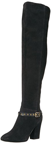 Nine West Women's Sandor Knee High Boot Black Suede