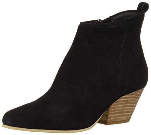 Dolce Vita Women's Pearse Ankle Boot Black Suede 8.5 M US