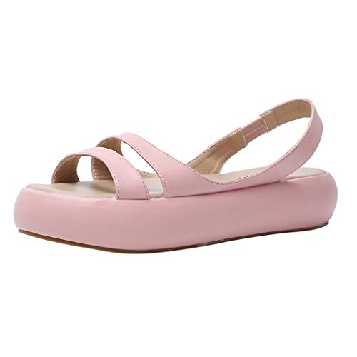 NEARTIMEWomen's Beach Walk Shoes, Summer Casual Shoes Platform-Bottom Sandals Slip-On Basic Shoes