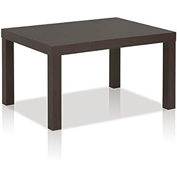 Amazoncom DHP Parsons Modern Coffee Table Black Wood Grain