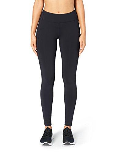 (Amazon Brand - Core 10 Women's Onstride Medium Waist Run Legging, Black, M (8-10) -Tall)