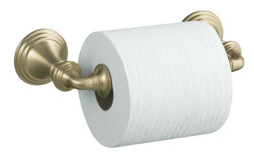 KOHLER K-10554-BV Devonshire Toilet Tissue Holder, Double Post, Vibrant Brushed (Tissue Holder Vibrant Brushed Bronze)