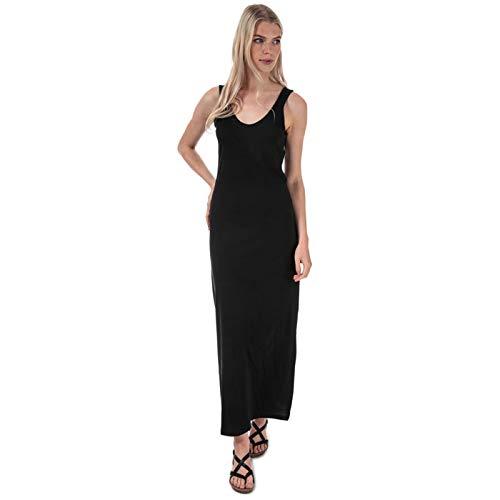 ONLY Damen Onlmay Life S/L V-neck Dress Jrs Kleid, Schwarz, S EU