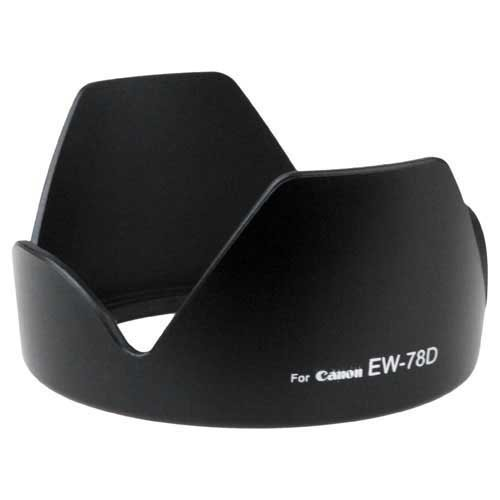 Fotodiox Dedicated (Bayonet) Lens Hood, for Canon EOS EF-S 18-200mm f/3.5-5.6 IS, EF 28-200mm f3.5-5.6 (replaces Canon EW-78D)
