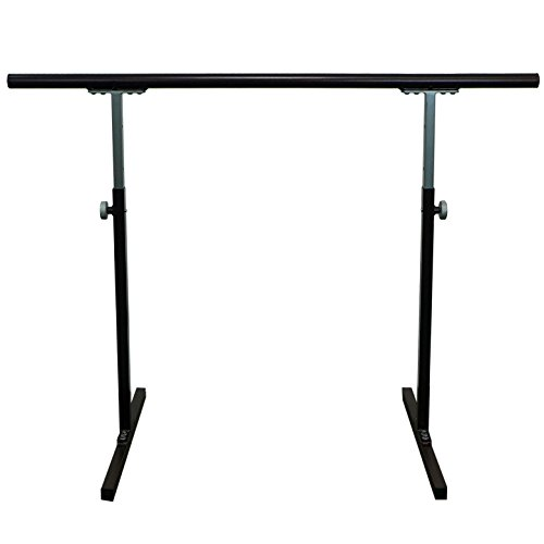 "Softtouch Ballet Barre 4.5ft Portable Dance Bar - Adjustable Height 31"" - 49"" - Freestanding Stretch Barre 54"""