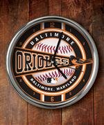 The Memory Company MLB Baltimore Orioles Official Chrome Clock, Multicolor, One Size
