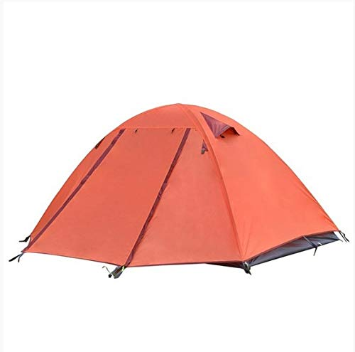Backpack Camping Tent 2-3 People Lightweight Traveling Double Waterproof Tent Area:260X225X110Cm Orange