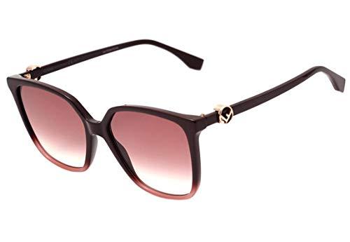 Fendi Ff 0318 S - Óculos De Sol 8Cq 3X Vinho Brilho/vinho D