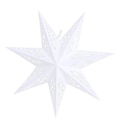 Vosarea papel de linterna de estrella 45 cm colgante festival de navidad boda fiesta de cumpleaños decoración del hogar…
