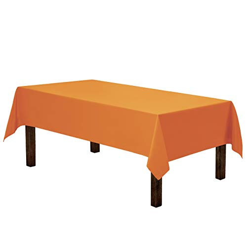 Gee Di Moda Rectangle Tablecloth - 60 x 84 Inch - Orange Rectangular Table Cloth in Washable Polyester - Great for Buffet Table, Parties, Holiday Dinner, Wedding & More