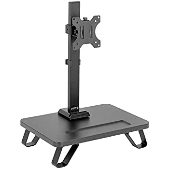 Amazon Com Vivo Black Freestanding Single Monitor Stand