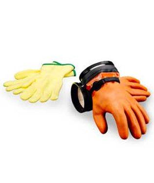 DUI Zip Gloves Maximum Dexterity Dry Suit Gloves with Liners (LG) ()