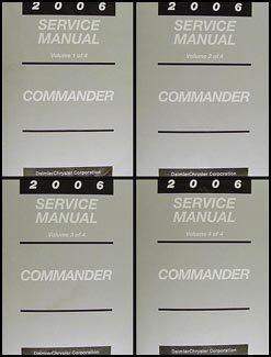 2006 jeep commander repair shop manual original 4 vol set jeep rh amazon com 2006 jeep commander user manual 2006 jeep commander manual pdf