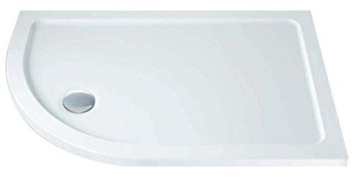 MX Group 5017706811248 900 x 800 Offset Quadrant Left Hand 550 Radius DucoStone Flat Top Shower Tray by MX (Quadrant Shower Trays)